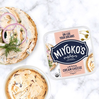 Miyoko's Vegan Cream Cheese Spreads it on Thick with 3 Classic Flavors - Plainly Classic, Sensational Scallion, and Un-Lox Your Dreams - all plant-based, dairy-free, oil-free, and paleo