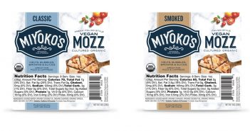 Miyoko's Vegan Mozz Fulfills Cravings for Fresh and Smoked Mozzarella - review, ratings,, ingredients, allergen info and more! It's dairy-free, soy-free, gluten-free, and paleo-friendly