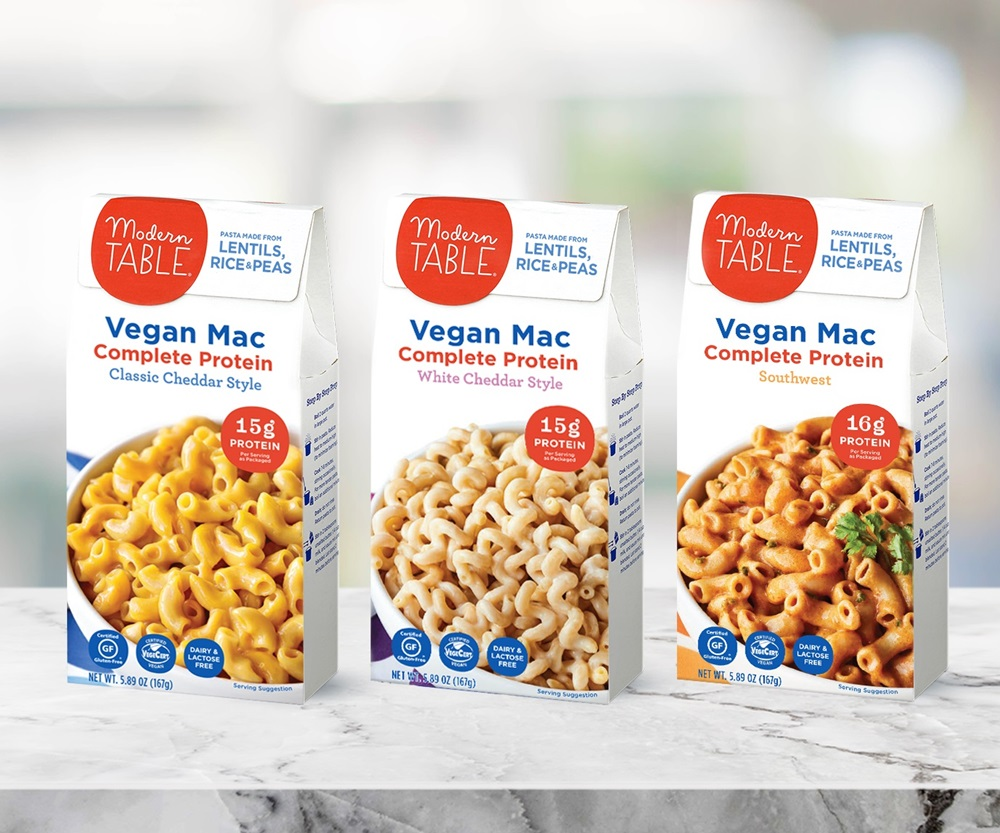 Modern Table Vegan Mac Gets Cheesy with 3 Protein-Packed Varieties - all dairy-free, gluten-free, nut-free, and soy-free. We have ingredients, ratings, and more ...