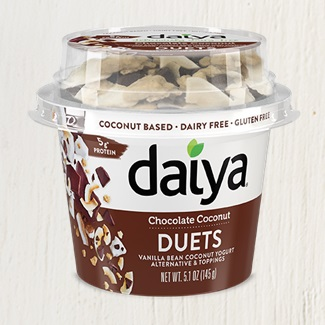 Daiya Duets Harmoniously Pair Dairy-Free Yogurt and Sweet Toppings - Review, Ingredients, Allergen Info, and More! All Vegan, Gluten-Free and Allergy-Friendly