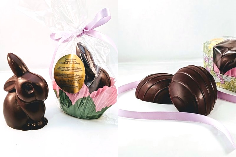 Creek House Solid Dark Dairy-Free Chocolate Easter Bunnies
