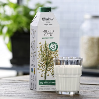 Elmhurst Milked Oats Take Oat Milk from Espresso Bar to Breakfast Table - 3 Varieties - we have the ingredients, availability, allergen info, and more (dairy-free, vegan, and allergy-friendly)