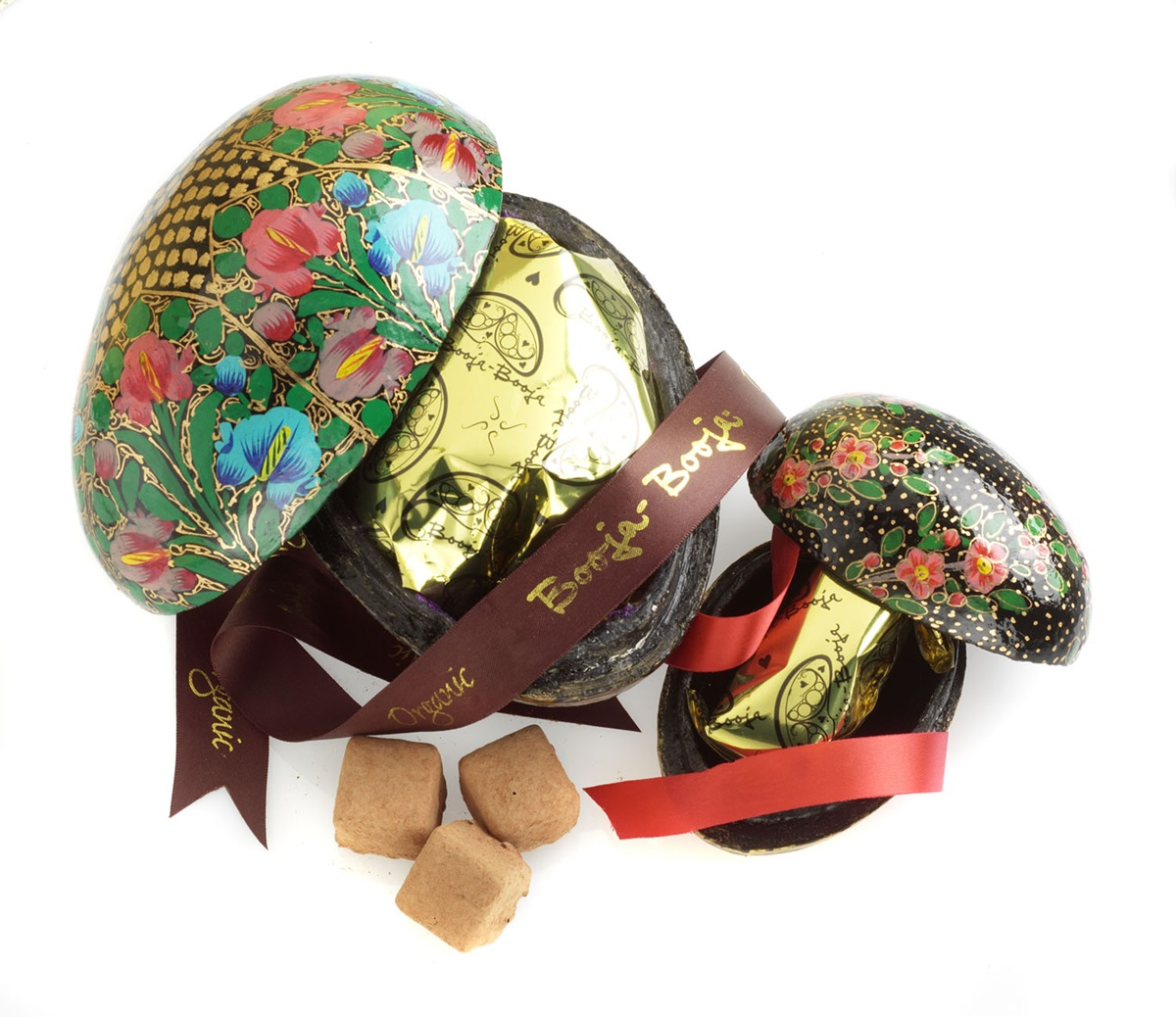 Dairy-Free Easter Chocolate in Australia, the UK and the rest of Europe - most options are vegan and gluten-free, some soy-free and nut-free, too! Pictured: Booja Booja Luxury Eggs