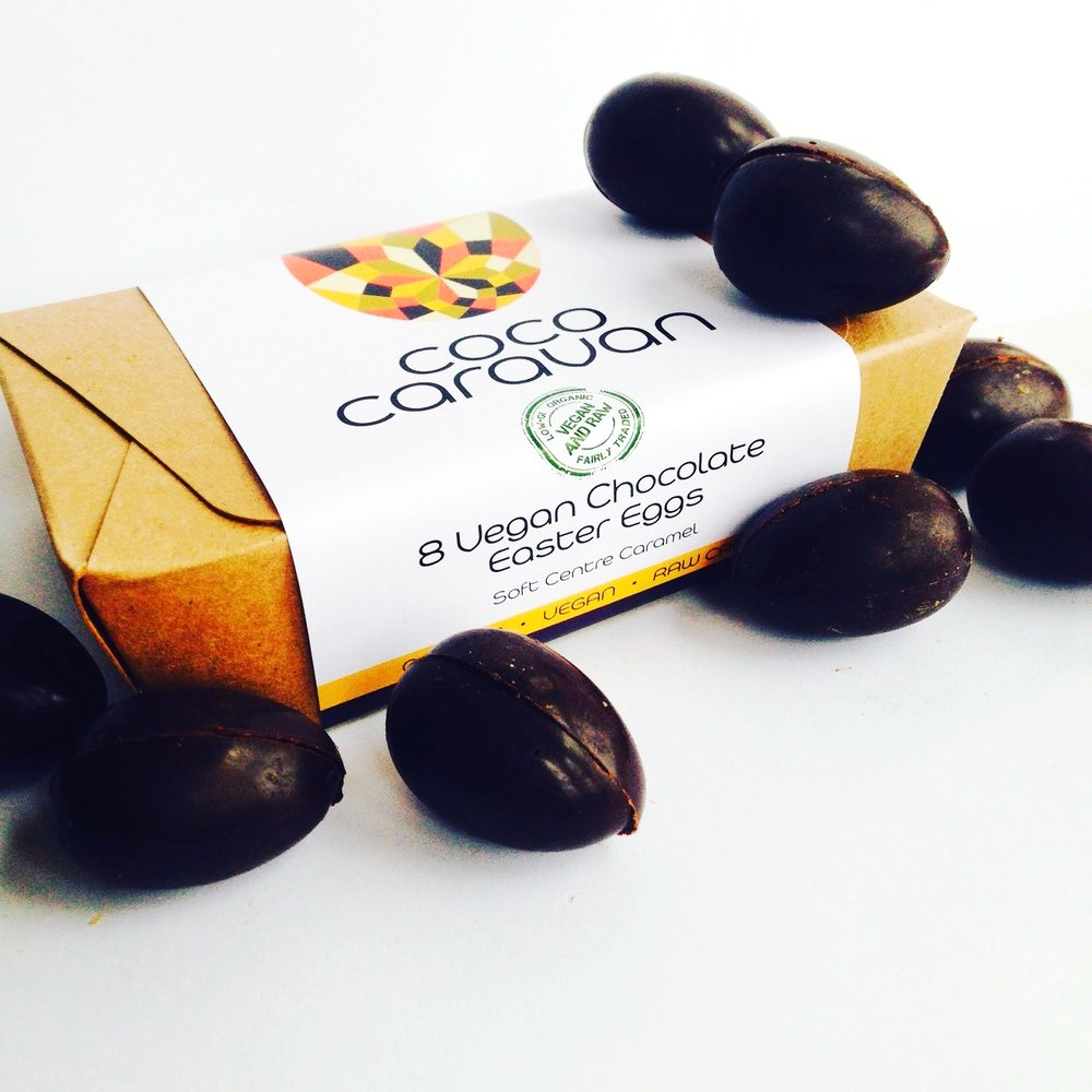 Dairy-Free Easter Chocolate in Australia, the UK and the rest of Europe - most options are vegan and gluten-free, some soy-free and nut-free, too! Pictured: Cocoa Caravan