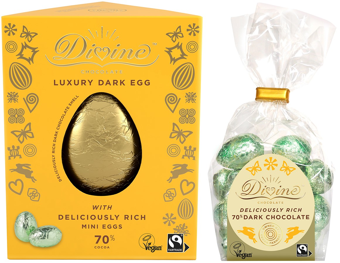 Dairy-Free Easter Chocolate in Australia, the UK and the rest of Europe - most options are vegan and gluten-free, some soy-free and nut-free, too! Pictured: Divine Chocolate