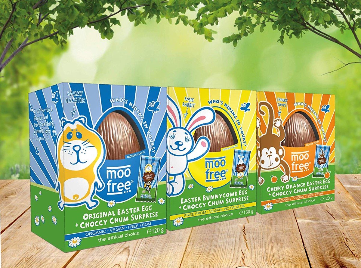 Dairy-Free Easter Chocolate in Australia, the UK and the rest of Europe - most options are vegan and gluten-free, some soy-free and nut-free, too! Pictured: Moo Free Eggs