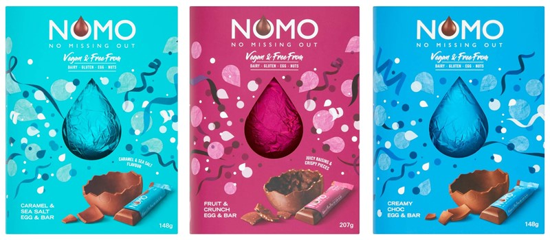 Dairy-Free Easter Chocolate in Australia, the UK and the rest of Europe - most options are vegan and gluten-free, some soy-free and nut-free, too! Pictured: Nomo Free From