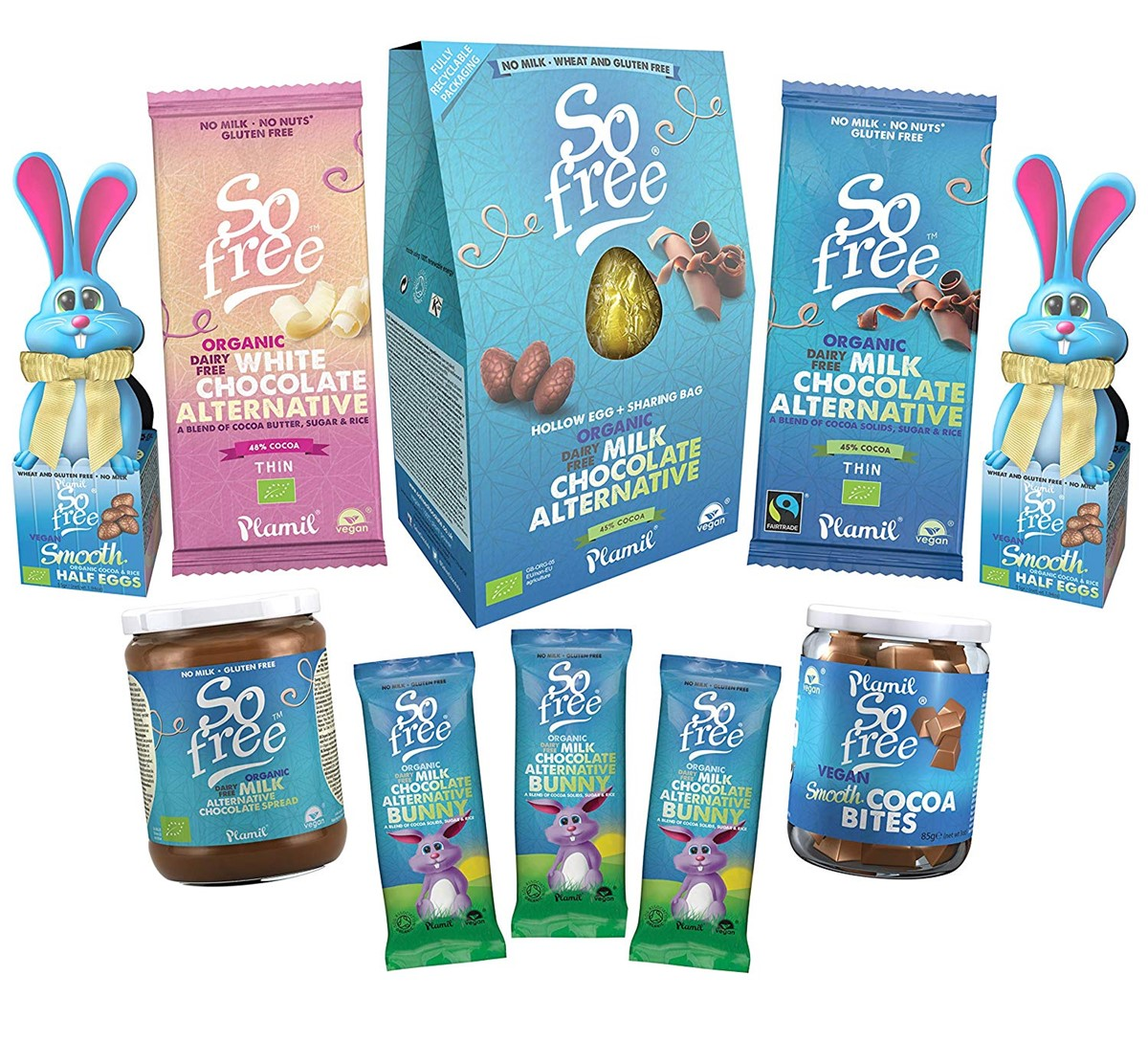 Dairy-Free Easter Chocolate in Australia, the UK and the rest of Europe - most options are vegan and gluten-free, some soy-free and nut-free, too! Pictured: Plamil So Free