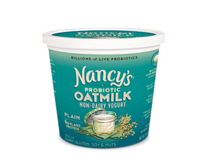 Nancy's Oatmilk Yogurt Combines Plant Protein and Non-Dairy Probiotics (Review, Ingredients, Allergen Info & More) - Dairy-Free, Nut-Free, Gluten-Free, Soy-Free & Vegan. Pictured: Plain