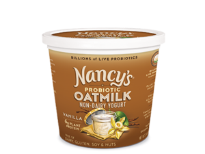 Nancy's Oatmilk Yogurt Combines Plant Protein and Non-Dairy Probiotics (Review, Ingredients, Allergen Info & More) - Dairy-Free, Nut-Free, Gluten-Free, Soy-Free & Vegan. Pictured: Vanilla