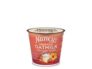 Nancy's Oatmilk Yogurt Combines Plant Protein and Non-Dairy Probiotics (Review, Ingredients, Allergen Info & More) - Dairy-Free, Nut-Free, Gluten-Free, Soy-Free & Vegan. Pictured: Strawberry Hibiscus