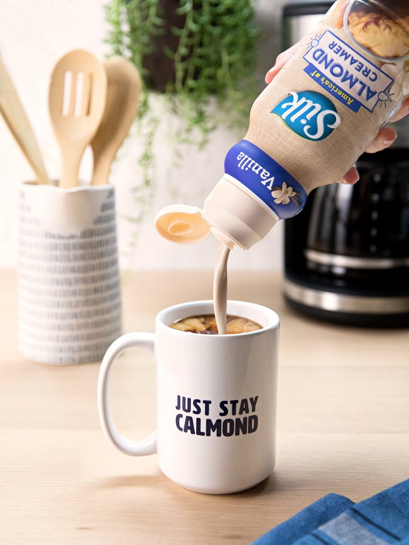 Silk Almond Creamer Reviews and Information - Now in 9 Dairy-Free, Soy-Free, Vegan Varieties. Pictured: Vanilla