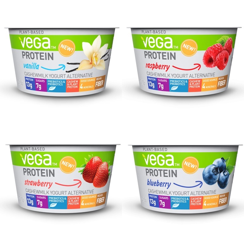 Vega Protein Cashewmilk Yogurt Alternative is Tops in Plant-Based Protein - get the ratings, ingredients, allergen info, availability and more here (dairy-free, vegan, gluten-free)
