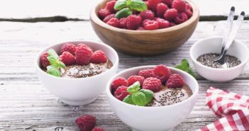 Chocolate, Chia, Raspberry & Acai Smoothie Bowl with Superfood Powers