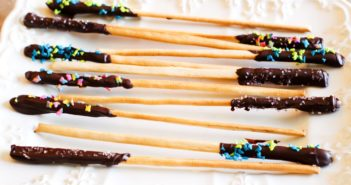 Homemade Fat Pocky Recipe Inspired by the Onion. Chef created to be allergy-friendly with gluten-free option (dairy-free, nut-free, vegan, etc)