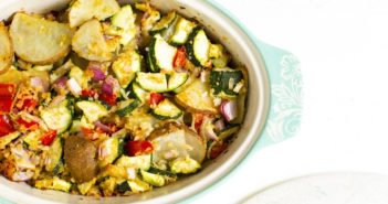 Vegan Zucchini Potato Casserole Recipe for a Plant-Based Dinner on a Budget (Gluten-free Optional)