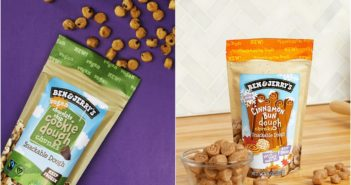 Ben & Jerry's Vegan Cookie Dough Chunks Reviews and Info (2 flavors!) we have the ingredients, nutrition, allergen, and more for these egg-free, dairy-free bites