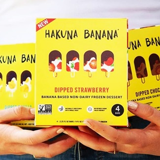 Hakuna Banana Dipped Frozen Dessert Bars Review and Information (ingredients, nutrition, availability, and more) - Dairy-free, paleo, vegan and gluten-free ice cream bars.