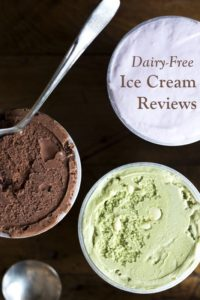 Dairy-Free Ice Cream Reviews - Ratings, Ingredients, Availability and More Info for all of the brands! Vegan and gluten-free too.