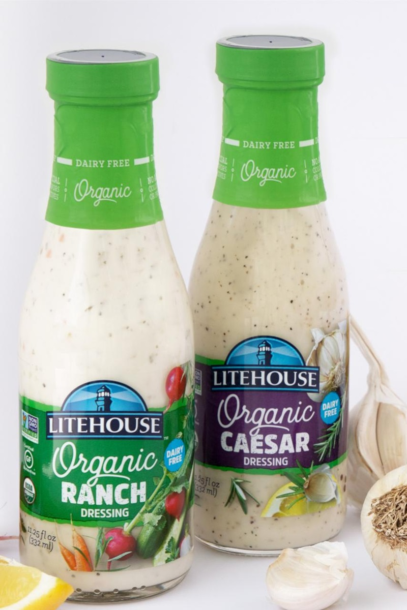 Litehouse Organic Pourable Dressings go Dairy Free in Caesar, Ranch and More Varieties. Get the ingredients, allergen info, availability and ratings here!