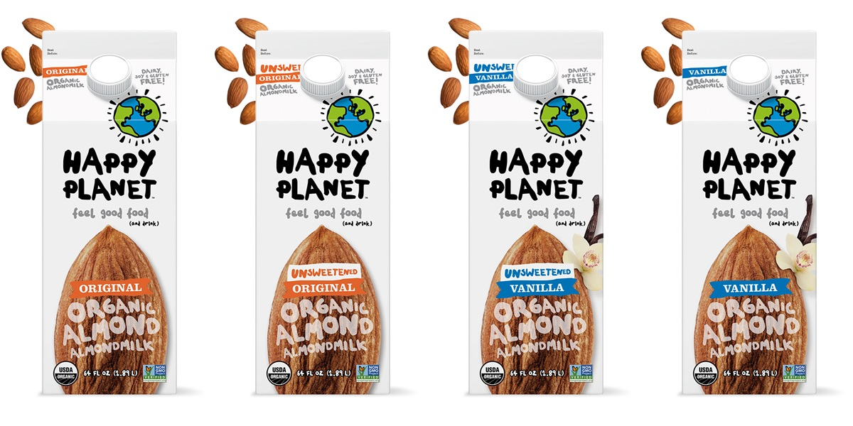 Happy Planet Almondmilk - Certified Organic, Dairy-Free, and Low-Carb - Sugar-Free Options - Ingredients, Reviews, and More Info