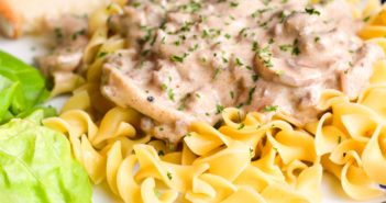 Dairy-Free Beef Stroganoff Recipe for a Quick and Easy Weeknight Meal. Includes gluten-free, soy-free, nut-free, turkey, and vegan options.