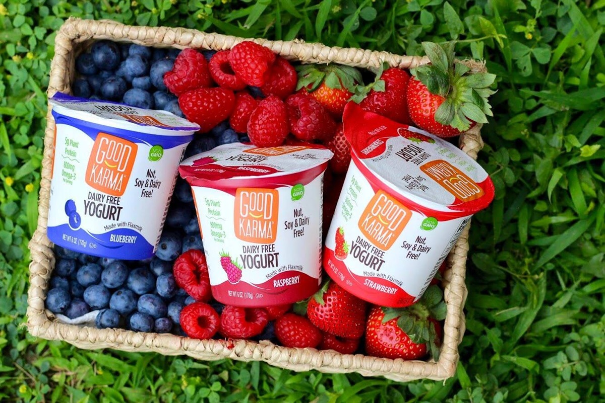 Good Karma Dairy-Free Yogurt made with Flaxmilk Review and Information - rich in Omega 3s, probiotics, and vegan protein