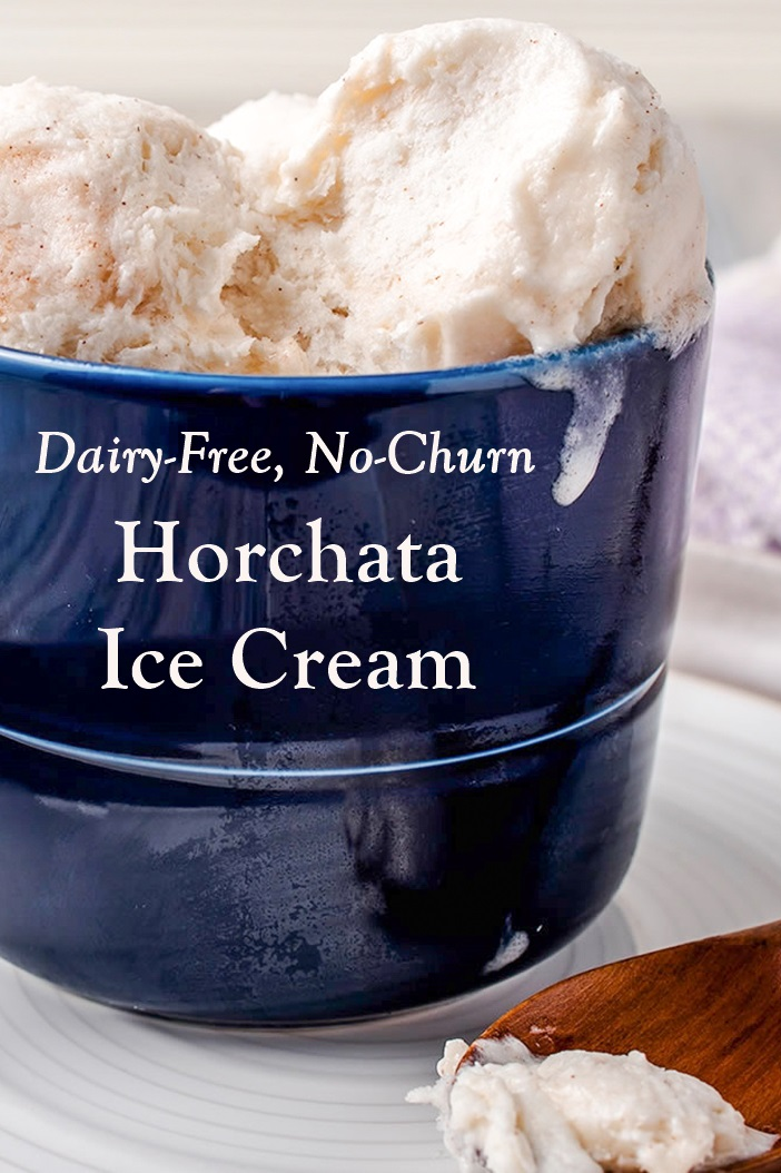 Vegan Horchata No-Churn Ice Cream Recipe - Dairy-free, Soy-free, Egg-free and easy to whip up!