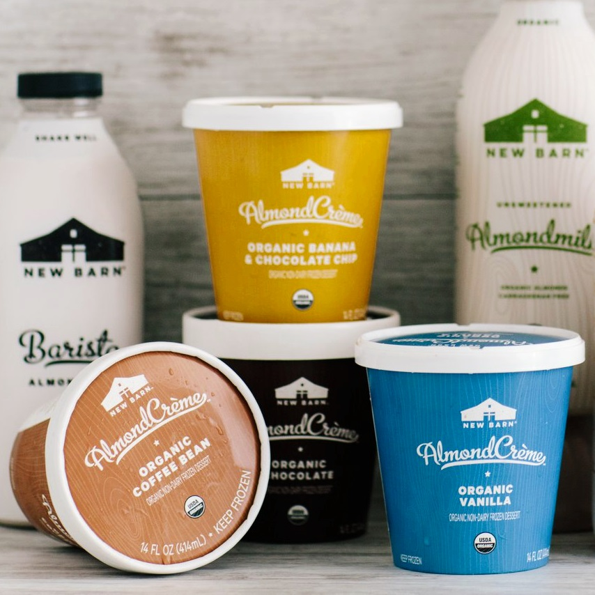 New Barn AlmondCrème Review - Dairy-Free, Certified Organic Ice Cream that's now Vegan too! We have ingredients, allergen info, availability, ratings, and more!