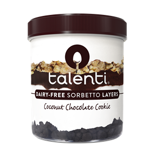 Talenti Sorbetto Review and Information - Pure, Creamy Italian Sorbets, all dairy-free, most vegan. Pictured: Coconut Chocolate Cookie