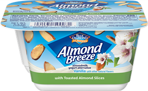 Almond Breeze Almondmilk Yogurt Alternative Review and Information - dairy-free yogurts with toppings by Blue Diamond. Pictured: Almond Yogurt Alternative + Toasted Almonds