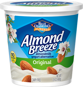 Almond Breeze Almondmilk Yogurt Alternative Review and Information - dairy-free yogurts with toppings by Blue Diamond. Pictured: Original (Unsweetened) Almond Yogurt Alternative