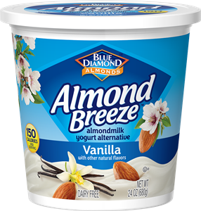 Almond Breeze Almondmilk Yogurt Alternative Review and Information - dairy-free yogurts with toppings by Blue Diamond. Pictured: Vanilla Almond Yogurt Alternative