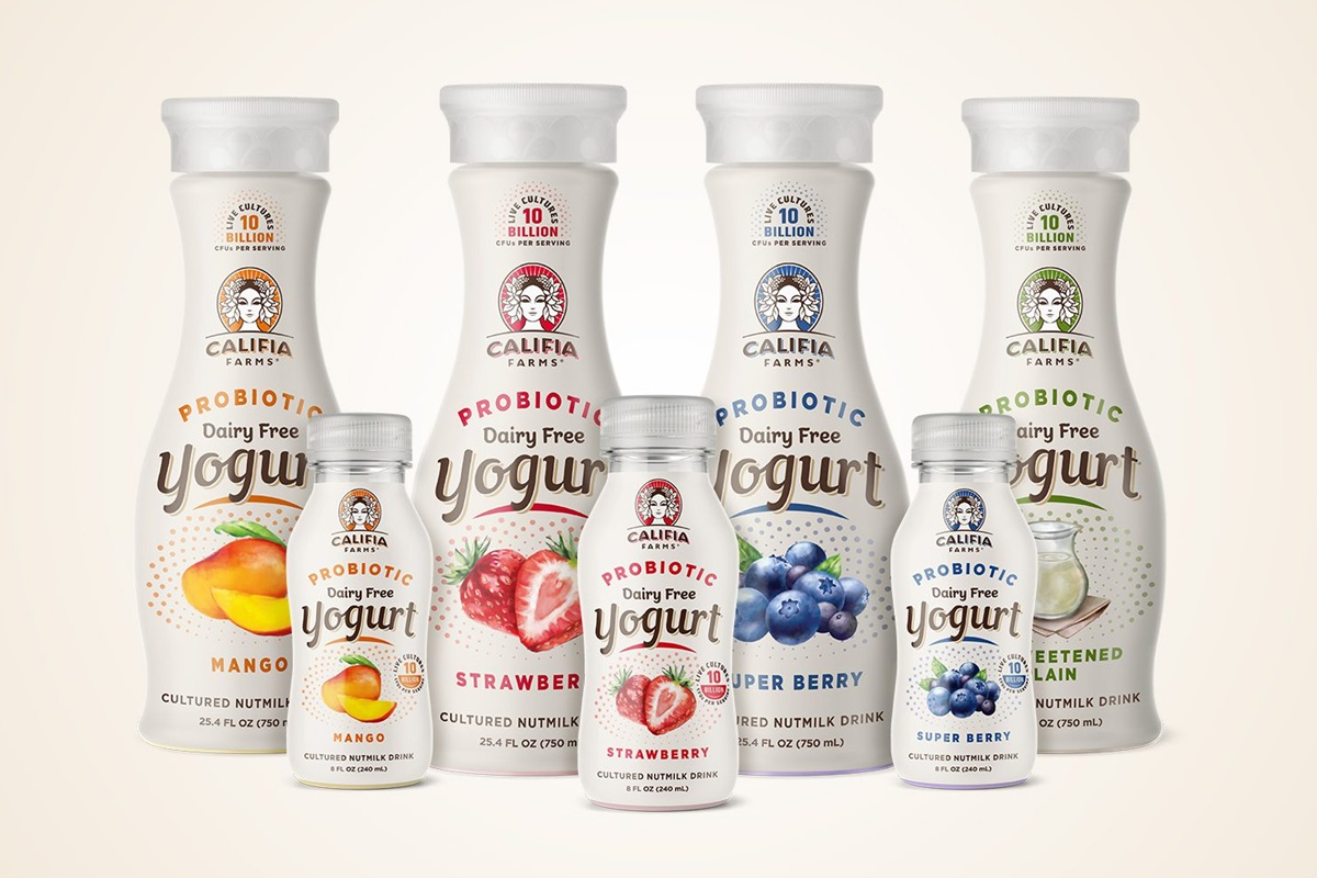 Califia Farms Dairy-Free Yogurt Drinks Review and Information - Four varieties, single-serve, and multi-serve bottles. We have ingredients, nutrition info, ratings, and more.