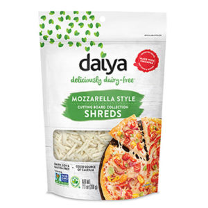 Daiya Cutting Board Shreds Review and Full Information (Dairy-Free Cheese Alternative) - picture: Nachos made with new Daiya Dairy Free Premium Cutting Board Shreds. Pictured Mozzarella