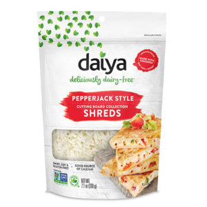 Daiya Cutting Board Shreds Review and Full Information (Dairy-Free Cheese Alternative) - picture: Nachos made with new Daiya Dairy Free Premium Cutting Board Shreds. Pictured: Pepper Jack