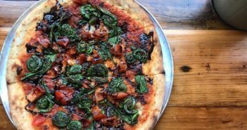 Flatbread Company Wood Fires Local, Organic, Vegan, and Dairy-Free Pizzas. Here are the options ... (located in New England, Whistler, and Maui