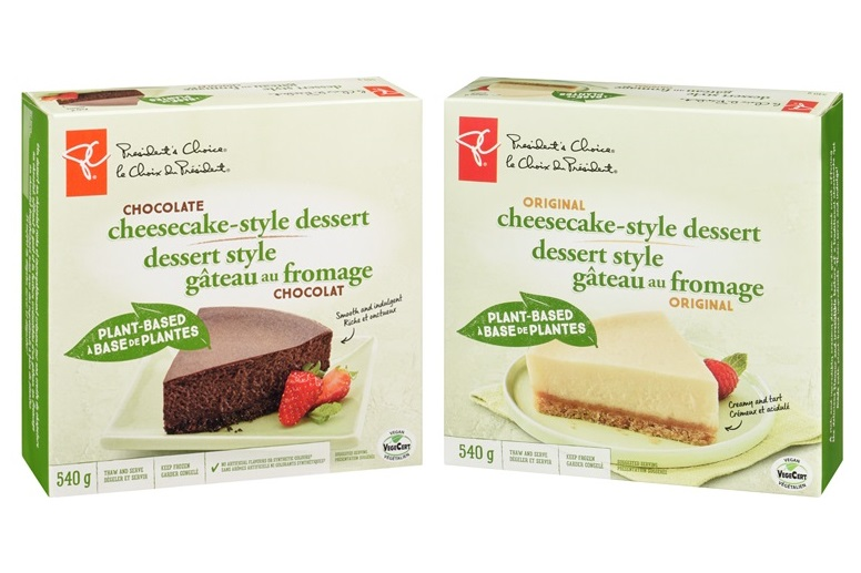 President's Choice Vegan Cheesecake Style Dessert (Plant-Based, Dairy-Free, Nut-Free and Soy-Free) Reviews and Info - sold in Canadian grocers