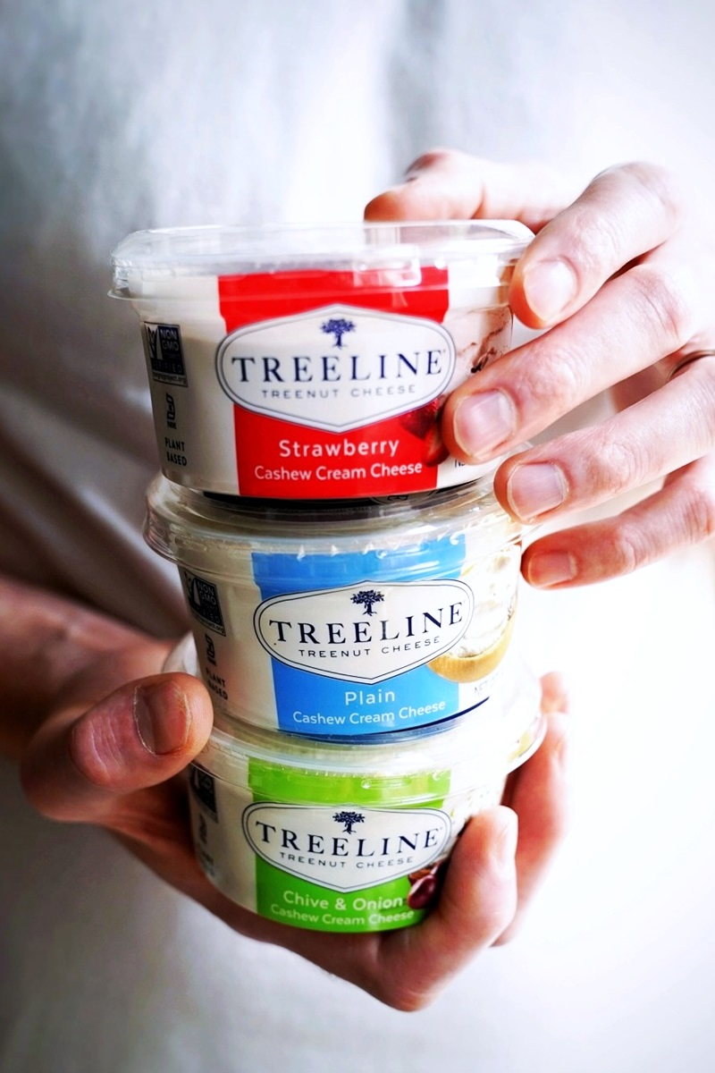 Treeline Cashew Cream Cheese Reviews & Info - Dairy-free Cream Cheese Alternative in 3 Vegan, Paleo, Dairy-Free, Gluten-Free Flavors.
