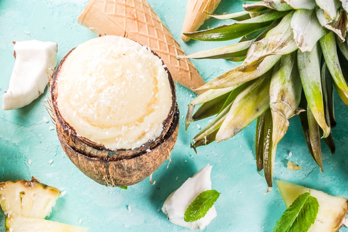 Dairy-Free and Vegan Pina Colada Ice Cream Recipe