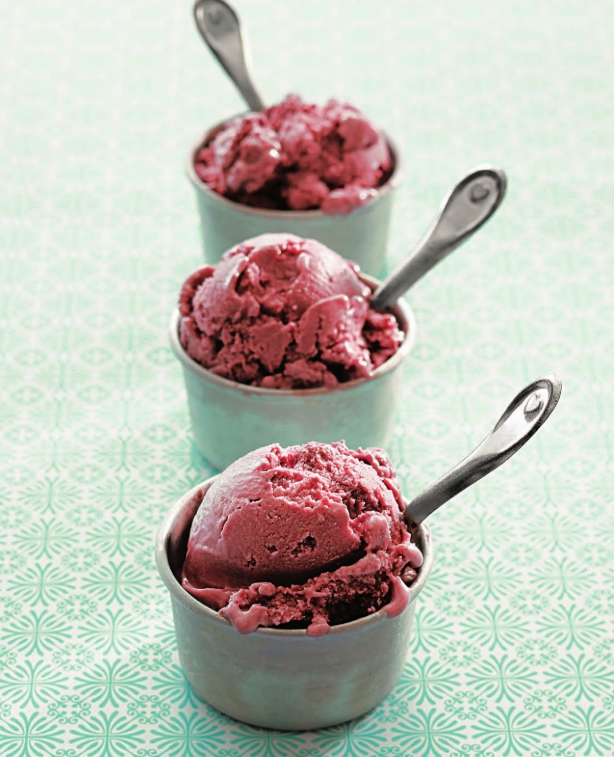 Black Raspberry Vegan Ice Cream Recipe