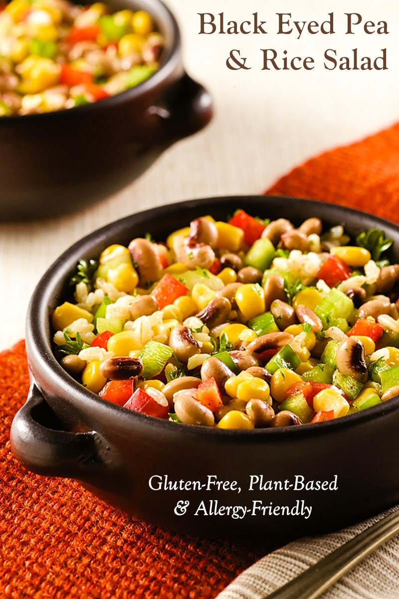 Confetti Black-Eyed Pea and Brown Rice Salad Recipe - Plant-Based, Vegan, Gluten-Free, and Allergy-Friendly Recipe from the American Heart Association