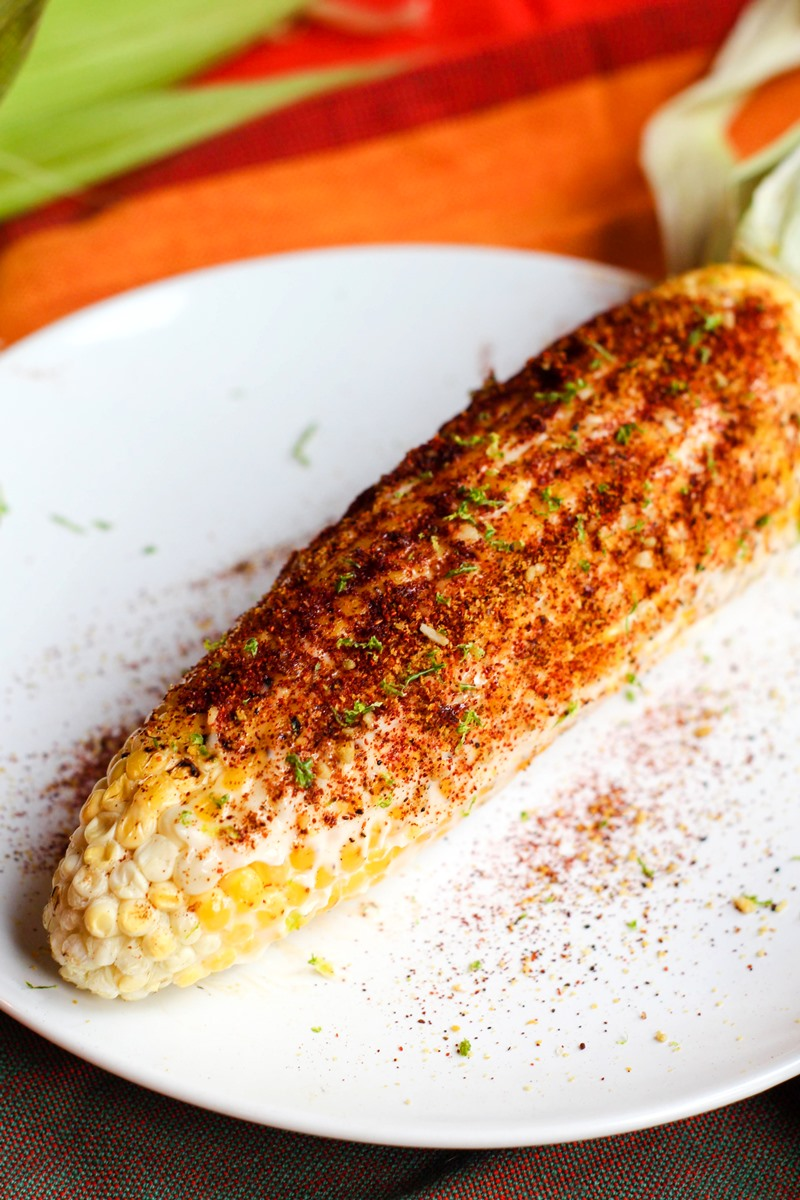 Dairy-Free Elotes Recipe - a Simple Plant-Based Twist on Farm-to-Table Street Food (also vegan, gluten-free, optionally nut-free, and soy-free