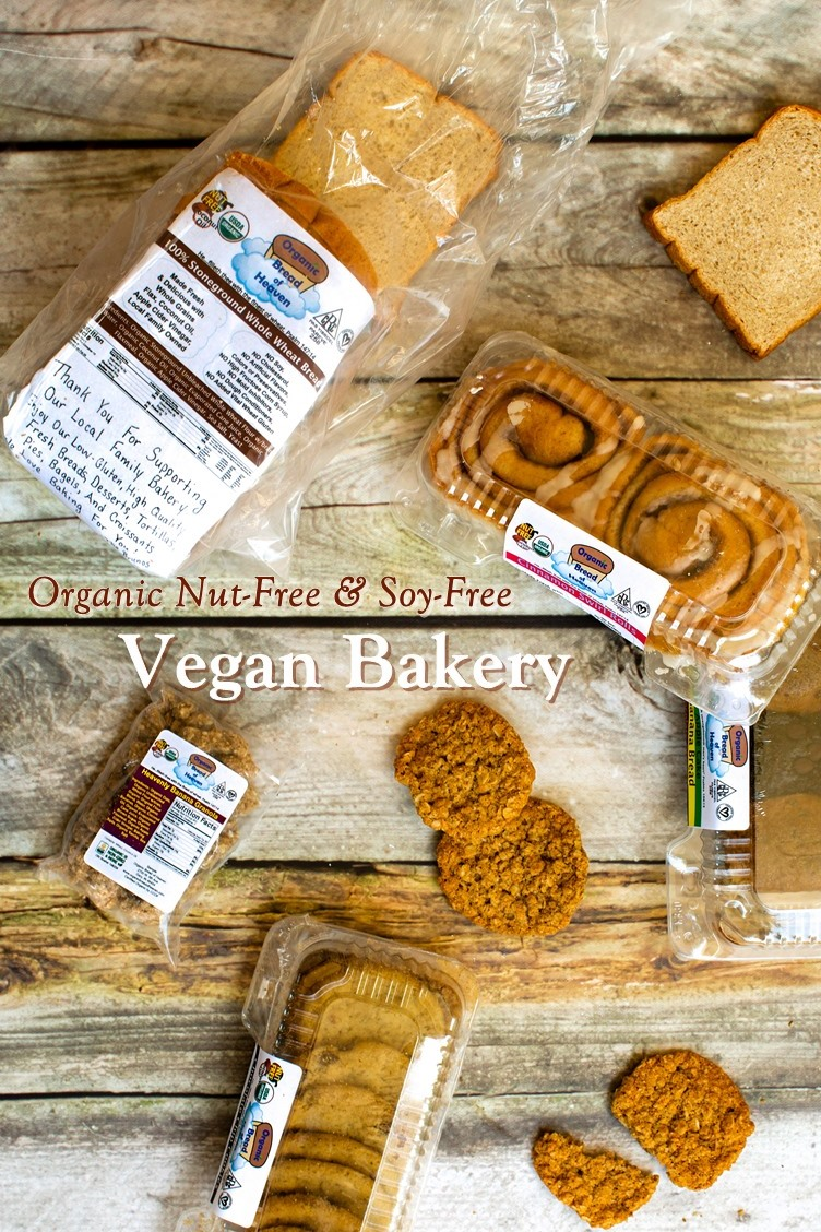 Organic Bread of Heaven Bakery - Vegan (Dairy-Free & Egg-Free), Nut-free, Soy-Free, Sesame-Free, Bromate-Free Bakery with bread, pastries, and more. Ships throughout the U.S.