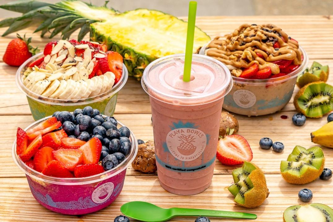 Playa Bowls Dairy-Free Menu Guide with Vegan Options - Acai, Pitaya, Coconut, Green, Banana, Chia, Oatmeal, and Poke Bowls!