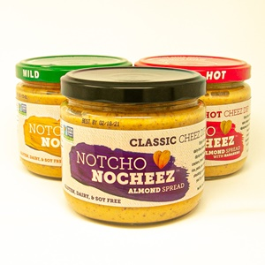 Notcho Nocheez Review and Information - Dairy-free and vegan healthy cheese alternative! Available in hot, classic, and tangy.