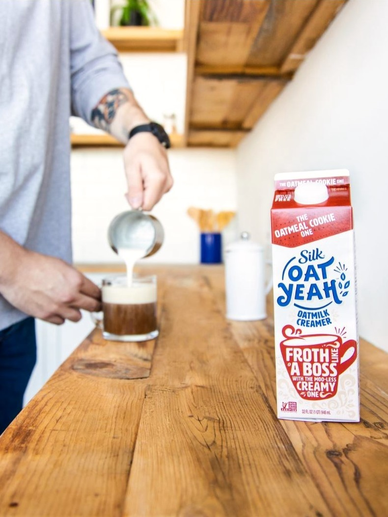 Silk Oat Yeah Oatmilk Creamer Review and Information - available in two flavors, dairy-free, gluten-free, nut-free, and vegan.