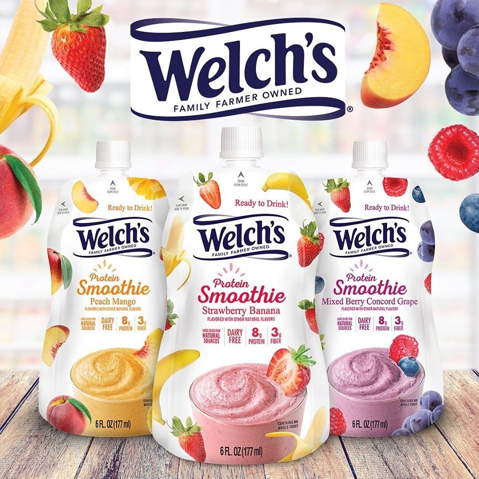 Welch's Protein Smoothies Review and Information - dairy-free, gluten-free, vegan and plant-based frozen smoothies that are ready to enjoy.