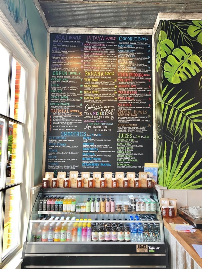 Playa Bowls Blends Unique Menu Options with Dairy-Free Ingredients - plant-based acai, pitaya, coconut, chia, green, and more bowls + poke bowls (all dairy-free with vegan option). Mainly gluten-free menu!