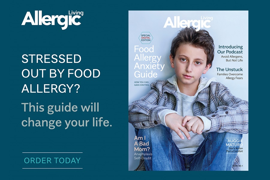 The BIG Food Allergy Anxiety Guide (How you can Gain Control) by Allergic Living - a must have for anyone living with food allergies or the parent of a child with food allergies